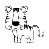 Cute animal icon image. Tiger cute animal icon image vector illustration design vector illustration