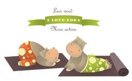 Cute animal illustration of yoga pose Stock Image