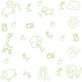 Cute animal for kids doodle art Royalty Free Stock Image