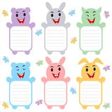 Cute Animal Label Sticker Royalty Free Stock Images