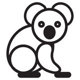 Cute animal loala - illustration Royalty Free Stock Images