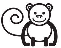 Cute animal monkey - illustration Royalty Free Stock Images