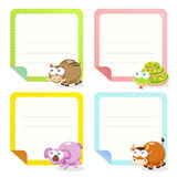 Cute animal note papers collection Stock Photo