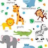 Cute animal pattern Royalty Free Stock Photos