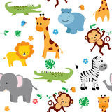 Cute animal pattern Royalty Free Stock Images