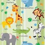 Cute animal pattern royalty free illustration