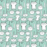 Cute Animal Pattern Background. Vector Illustration royalty free illustration