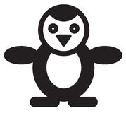 Cute animal penguin - illustration Royalty Free Stock Photos