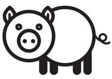 Cute animal pig - illustration Stock Photos