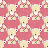 Cute animal seamless pattern Stock Image
