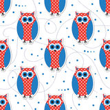 Cute animal seamless pattern Stock Images