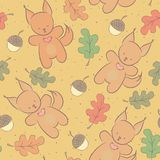 Cute animal seamless pattern Royalty Free Stock Photos