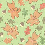 Cute animal seamless pattern Stock Photography