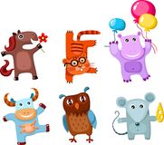 Cute animal set. Vector Illustration of a cute animal set Stock Photography