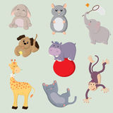 Cute animal set Stock Image