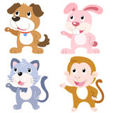 cute animal set Royalty Free Stock Photography