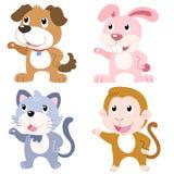 cute animal set Royalty Free Stock Photography