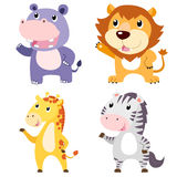 cute animal set Royalty Free Stock Image
