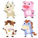 cute animal set Stock Photos