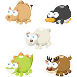 Cute animal set Royalty Free Stock Images
