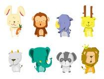 Cute Animal Set. Illustration .eps 10 Stock Images