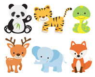 Cute Animal Set stock illustration