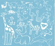 Cute Animal Set Vector Illustr Stock Photo