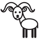 Cute animal sheep - illustration Royalty Free Stock Photo