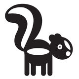 Cute animal skunk - illustration Stock Images