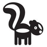 Cute animal skunk - illustration Stock Images