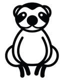 Cute animal sloth - illustration Stock Images