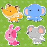 Cute animal stickers 04 Stock Image