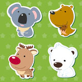 Cute animal stickers 05 Royalty Free Stock Photography