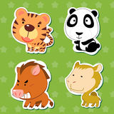Cute animal stickers 06 Stock Image