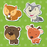 Cute animal stickers 07 Stock Photography