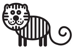 Cute animal tiger - illustration Royalty Free Stock Images