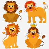 Cute Animal Vector Icons : Lion Stock Images