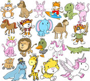 Cute Animal Vector Set vector illustration
