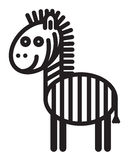 Cute animal  zebra - illustration Stock Image