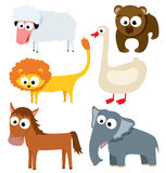 Cute animals. Collection of cute animals. Part 2 vector illustration
