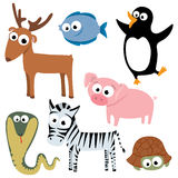 Cute animals. Collection of cute animals. Part 3 royalty free illustration