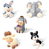 Cute Animals. Pack of five different cute cartoon style animals Royalty Free Stock Photo