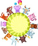 Cute animals. Vector illustration of a cute animals Stock Image