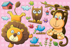 Cute Animals royalty free illustration