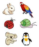 Cute animals. Perfect for designs, banners, t-shirt illustration, decoration, adds Royalty Free Stock Photography