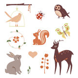 Cute animals characters Stock Images