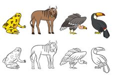 Cute animals collection. Vector illustration Stock Photos