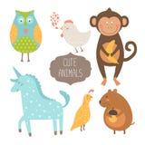 Cute animals collection Stock Photos