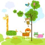 Cute animals design Stock Photos