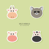 Cute animals Faces Stock Image